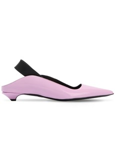 Proenza Schouler 20mm Patent Leather Slingback Flats