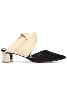 Proenza Schouler 40mm Leather & Suede Mules