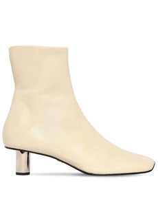 Proenza Schouler 40mm Stretch Leather Ankle Boots