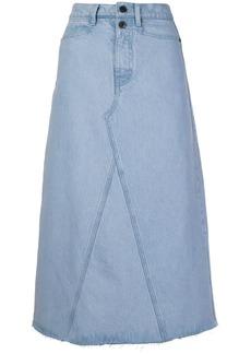 Proenza Schouler A-line denim skirt