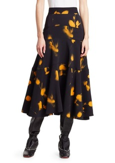 Proenza Schouler Abstract Print Cady Swing Skirt