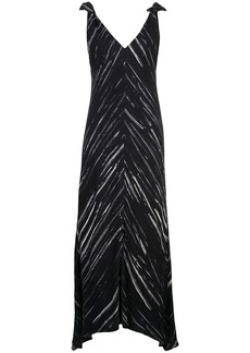 Proenza Schouler abstract print mid-length dress