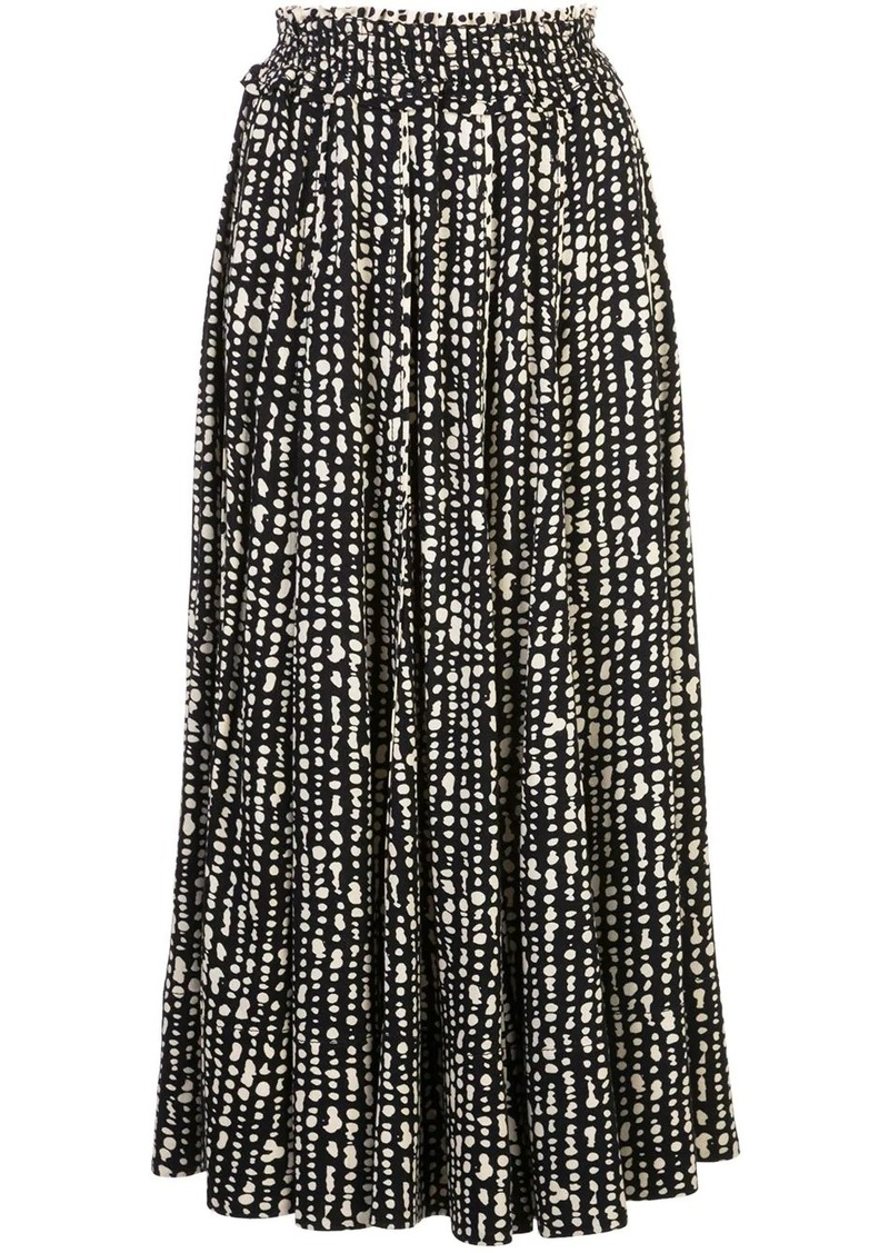 Proenza Schouler abstract print pleated skirt