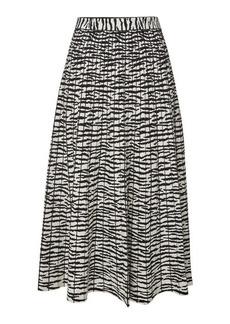 Proenza Schouler Animal Print Midi Skirt