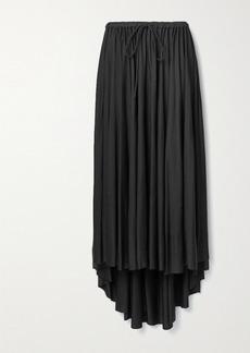 Proenza Schouler Asymmetric Gathered Satin-jersey Midi Skirt