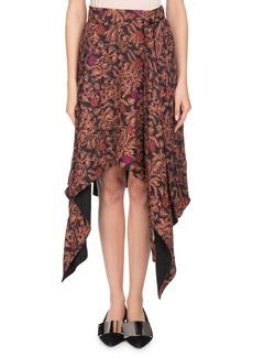 Proenza Schouler Asymmetric-Hem Floral-Print Skirt