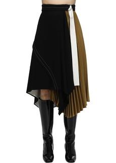Proenza Schouler Asymmetric Matte Viscose Crepe Skirt