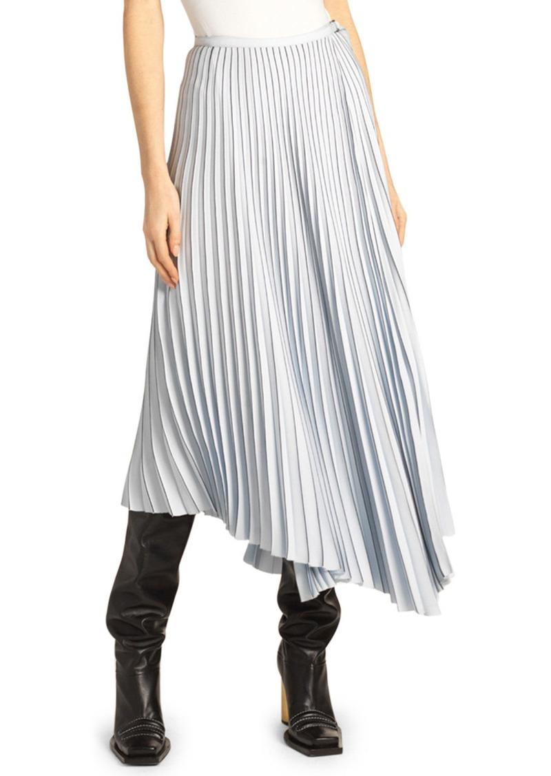 Proenza Schouler Asymmetric Pleated Skirt