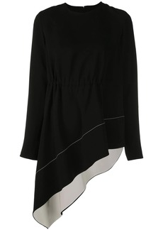Proenza Schouler Asymmetrical Draped Long Sleeve Top