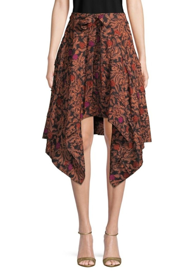 Proenza Schouler Asymmetrical Printed A-Line Skirt