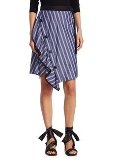 Proenza Schouler Asymmetrical Striped Shirt