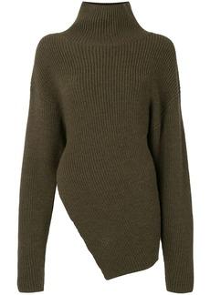 Proenza Schouler asymmetrical wool turtleneck jumper