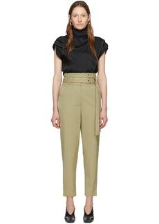 Proenza Schouler Beige Wool Belted Trousers
