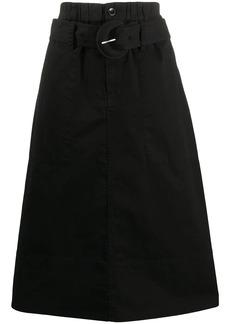 Proenza Schouler belted A-line midi skirt