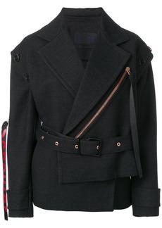 Proenza Schouler Belted Asymmetrical Logo Pull Coat