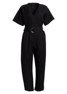 Proenza Schouler Belted Cotton Jumpsuit