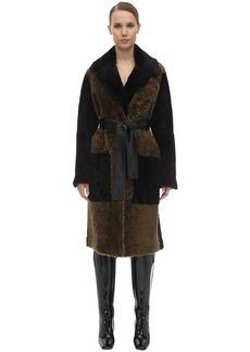 Proenza Schouler Belted Shearling Coat