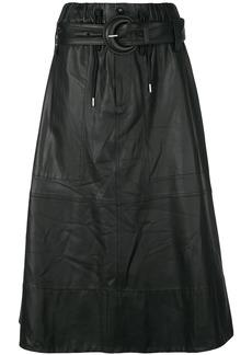 Proenza Schouler belted A-line skirt