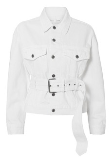 Proenza Schouler Belted White Denim Jacket