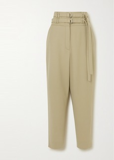 Proenza Schouler Belted Wool-blend Tapered Pants