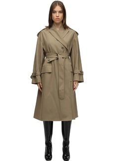 Proenza Schouler Belted Wool Blend Twill Coat