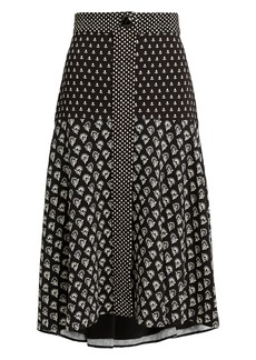 Proenza Schouler Black And White Printed Midi Skirt