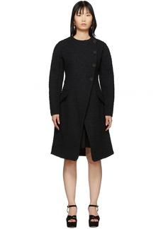 Proenza Schouler Black Bouclé Coat