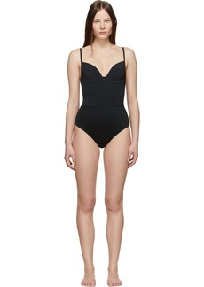 Proenza Schouler Black Bustier One-Piece Swimsuit