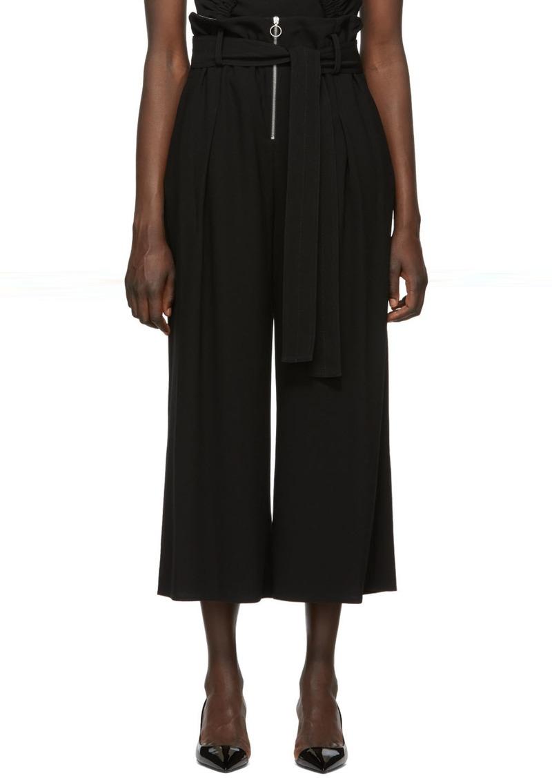 Proenza Schouler Black Paperbag Wide Trousers