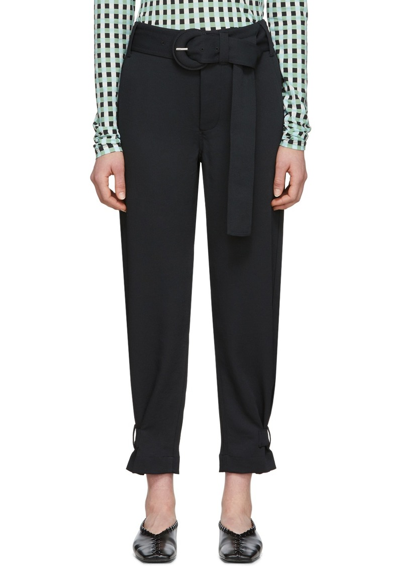 Black 'Proenza Schouler White Label' Rumpled Belted Trousers