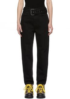 Proenza Schouler Black PSWL Belted Skater Jeans