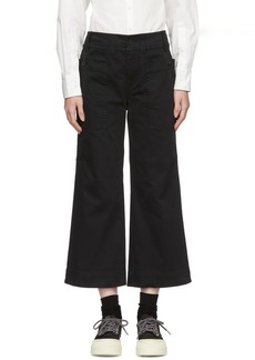 Proenza Schouler Black Wide-Leg Trousers