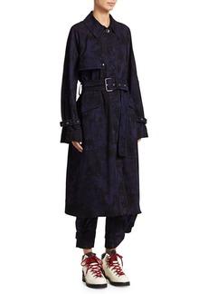Proenza Schouler Bleach-Dyed Cotton Trench Coat