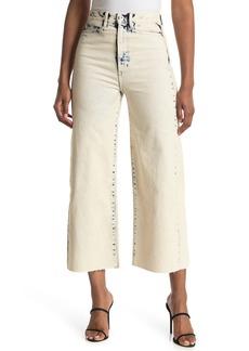 Proenza Schouler Bleached High Waist Wide Crop Jeans