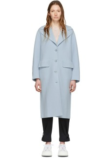 Blue 'Proenza Schouler White Label' Double Face Long Coat