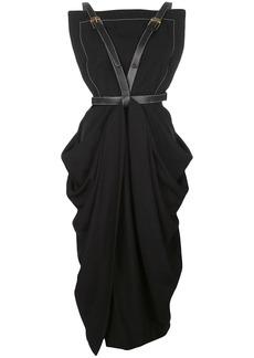 Proenza Schouler bondage draped midi dress