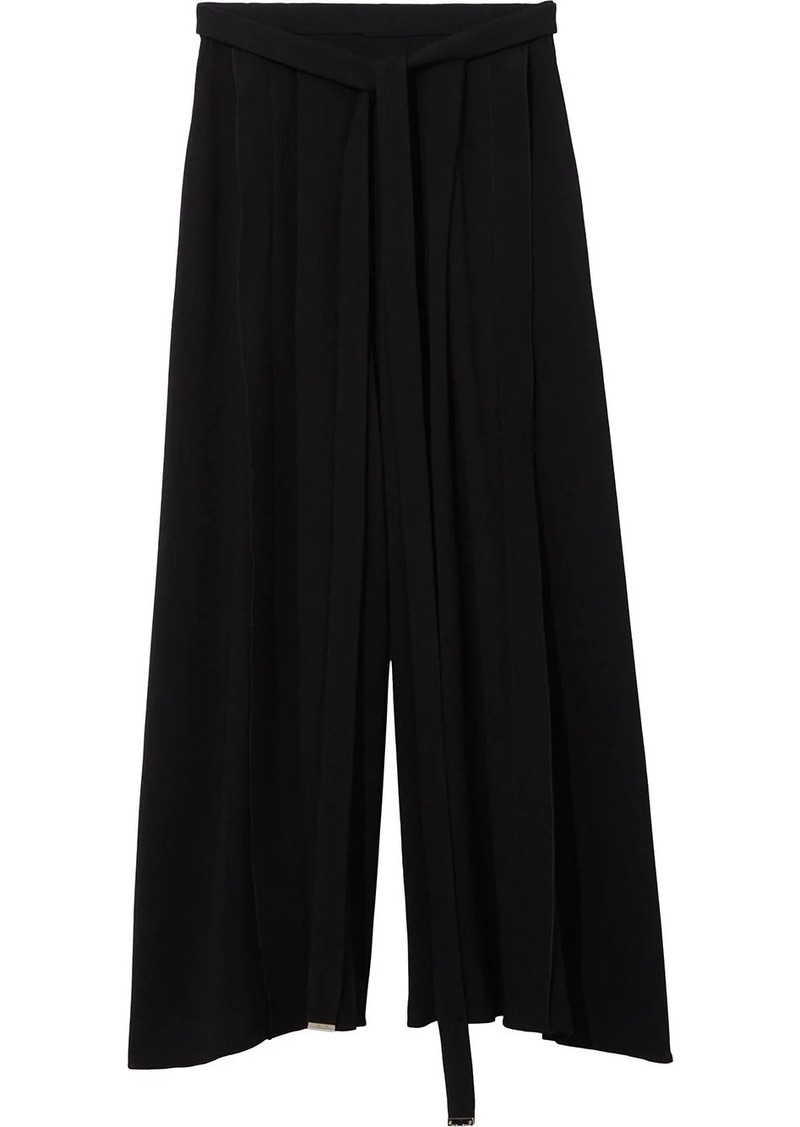 Proenza Schouler bow detail cropped palazzo trousers
