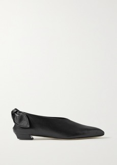 Proenza Schouler Bow-embellished Leather Ballet Flats