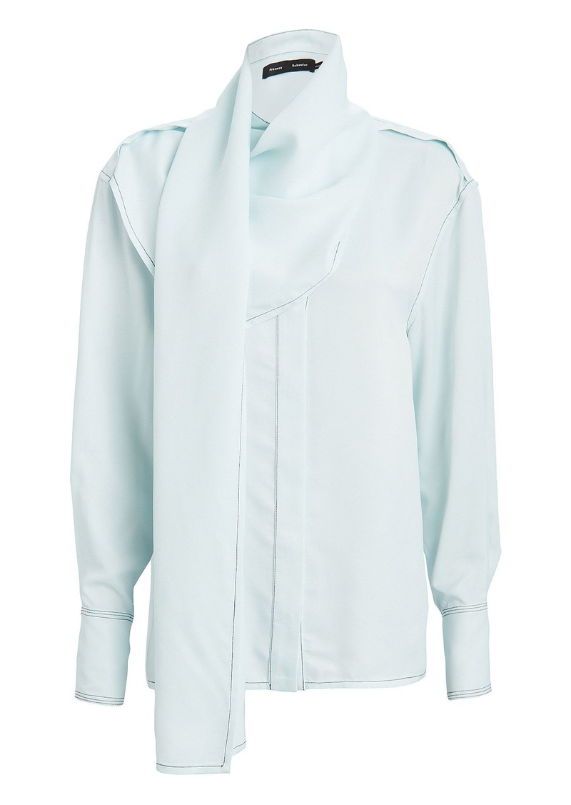 Proenza Schouler Button Down Scarf Blouse