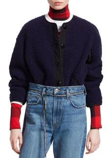 Proenza Schouler Button-Front Fleece Jacket