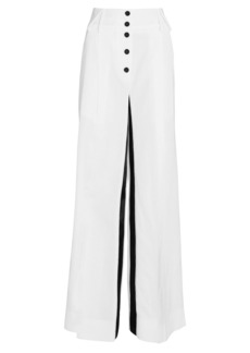 Proenza Schouler Button-Front Wide-Leg Pants