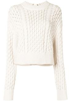 Proenza Schouler cable knit buttoned jumper