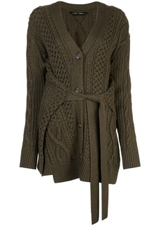 Proenza Schouler Cable Knit Robe Cardigan