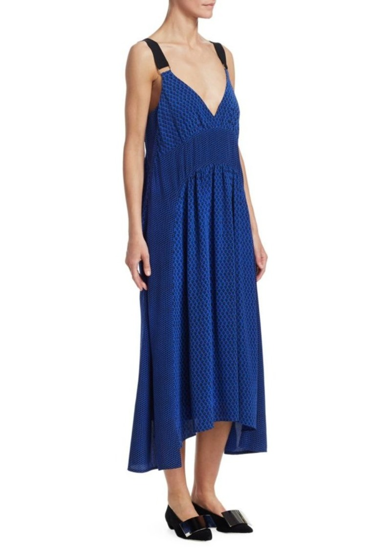 Proenza Schouler Cami Silk Printed Slip Dress