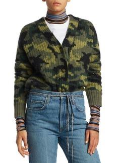 Proenza Schouler Camo Jacquard Knit Cardigan