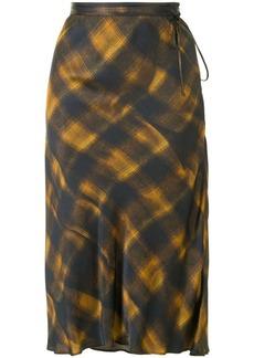 Proenza Schouler check-pattern midi skirt