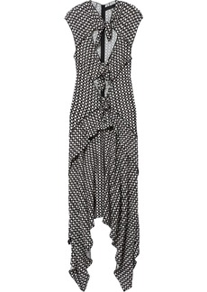 Proenza Schouler Checkered Cap Sleeve Tie Dress