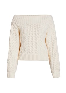 Proenza Schouler Chunky Cable Knit Sweater