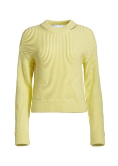 Proenza Schouler Chunky Ribbed Wool Pullover