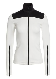 Proenza Schouler Colorblock Cotton Zipper Track Top